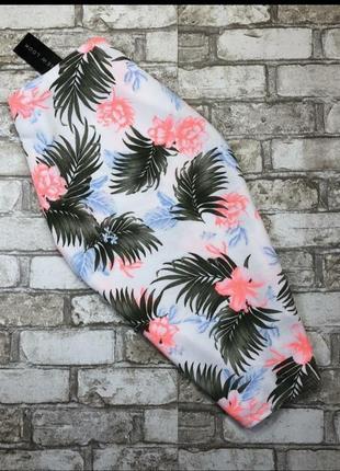 Новая, юбка, спідниця,new look, бандажная, яркая, в цветы