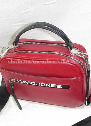 Клатч, сумка через плечо david jones 5462 темно-красный