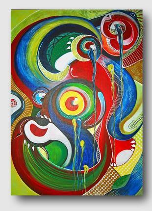Картина абстракция illusion 50х70