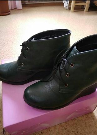 Осенние ботинки р  38 ,экокожа