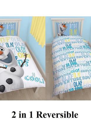 Детское постельное белье 150 на 200 см olaf frozen