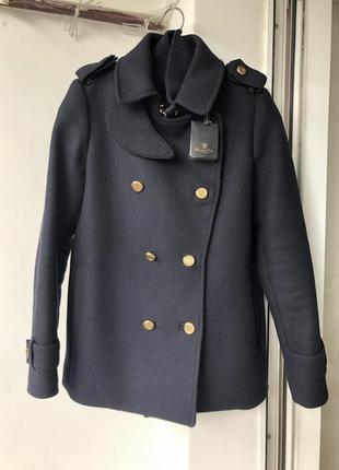 Пальто шерстяное тёплое massimo dutti полупальто оригинал xs s новое
