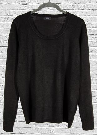 Базовый черный свитер женский, черный однотонный свитер, свободный свитер, черный пуловер