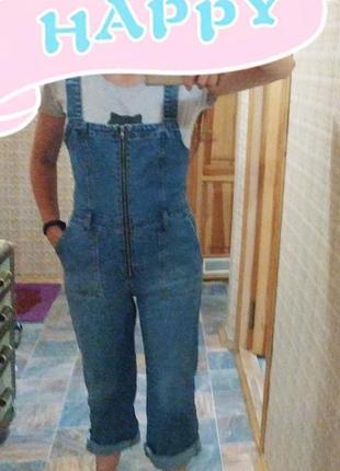 Комбинезон женский джинсовый primark, размер s
