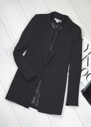 Классический удлиненный приталенный пиджак