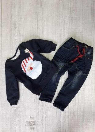 Продам теплейший на меху свитер с тематикой«нового года»в упаковке!