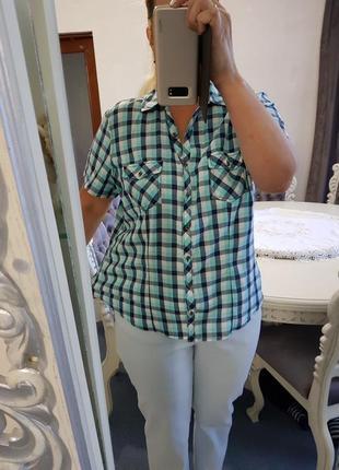 Блузка рубашка в клетку