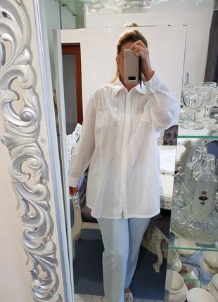 Лляная рубашка туника  thea 42 plus