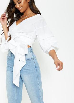 Очень красивая рубашка блуза на запах