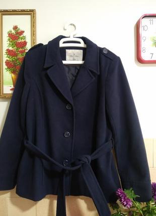 Пальто женское синее р l