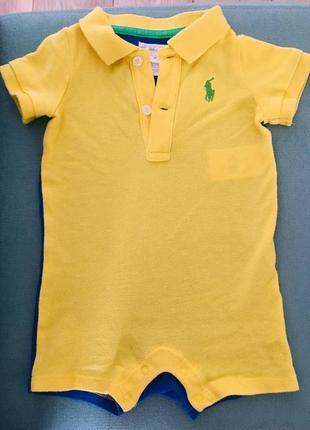 Песочник {ромпер}  ralph lauren на мальчика 3-6 месяцев