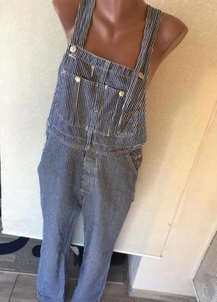 Брючный комбинезон джинс на брителях