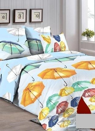 Постельное белье зонтики разноцветные все размеры