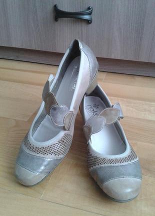 Туфли rieker antistress натуральная кожа с перфорацией р. 40