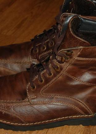 Кожаные утеплённые ботинки 44 р george хорошее состояние