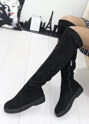 Новые женские черные осенние сапоги