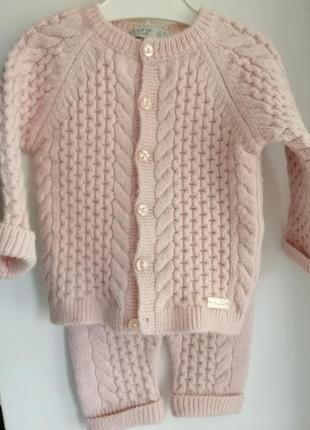 Вязаный комплект monna rosa на девочку 6-9 месяцев1 фото