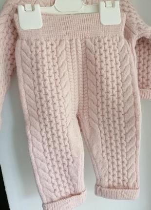 Вязаный комплект monna rosa на девочку 6-9 месяцев2 фото