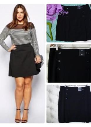 16 long фирменная базовая черная юбка