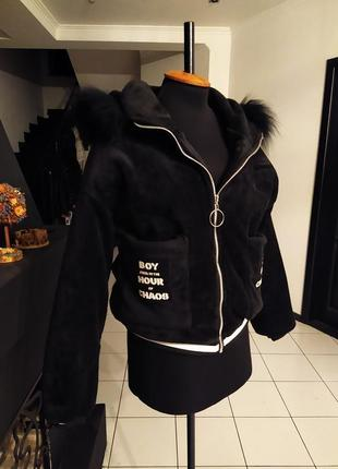Бархатный бомбер куртка oversize зима бархат велюр велюровый