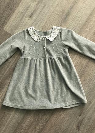 Нарядное велюровое платье для девочки