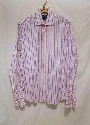 Рубашка в полоску под запонки *hawes & curtis* 52-54р