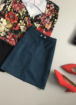 Невероятная замшевая юбка трапеция primark