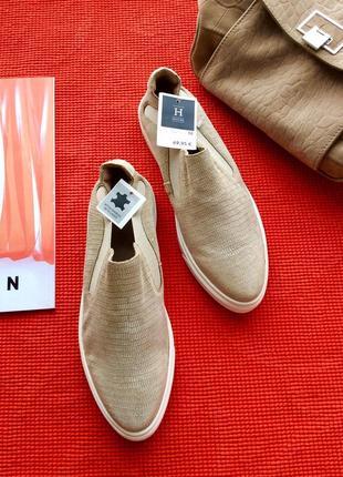 Подарок туфли слипоны (натуральная кожа и замша), стелька 25, финляндия