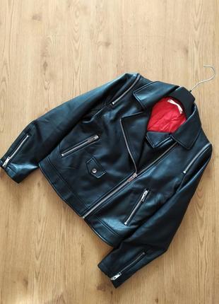 Байкерская косуха mango, кожаная куртка (экокожа)
