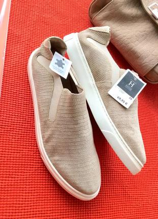 Туфли лоферы слипоны (натуральная кожа и замша), стелька 25, финляндия3 фото