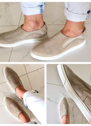 Туфли лоферы слипоны (натуральная кожа и замша), стелька 25, финляндия4 фото
