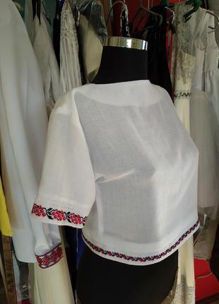 Топ вишитий, етно топ, блузка фолькстиль