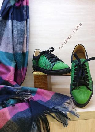 Кроссовки крокодил зеленые