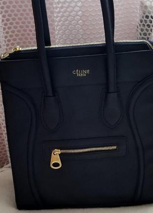 Крура прямоугольна сумка, темно синя,celine paris