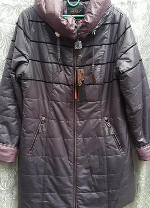 Демисезонное пальто plist /баклажан/48/50