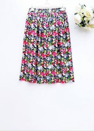 Шелковая юбка на резинке юбка миди с натурального шелка