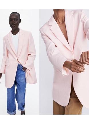Новый удлиненный пиджак кардиган zara