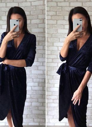 Бархатное платье на запах от укр дизайнера vovk