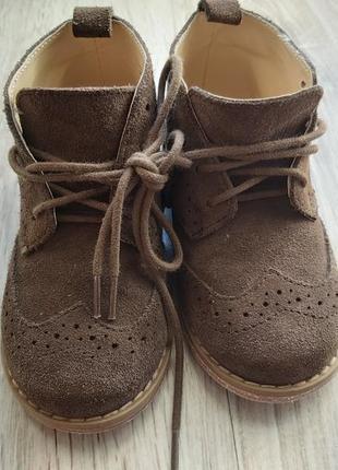 Натуральні замшеві черевики для хлопчика