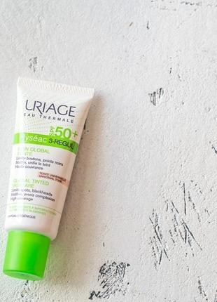 Тональный уход uriage hyseac 3-regul tinted global skin-care spf 50