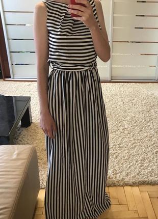 Плаття максі в полоску