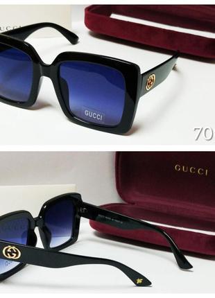 Женские очки солнцезащитные черные  классика