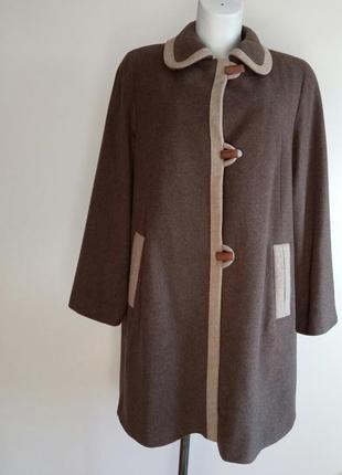 🌿отличное почти натуральное демисезонное пальто от eastax