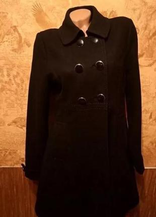 Новое шерстяное демисезонное женское пальто фирмы h&m