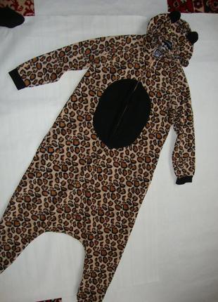 Костюм аниматора человечек карнавальный новогодний рысь тигр