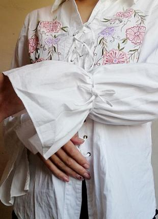 Шикарная вышиванка блуза рубашка