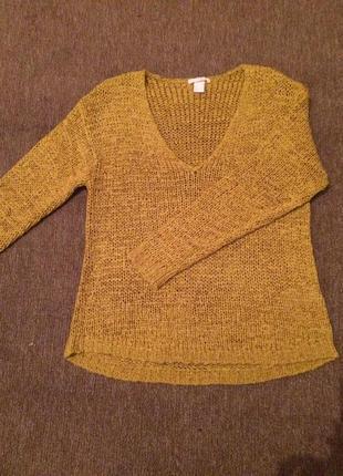 Стильный, тёплый свитер h&m