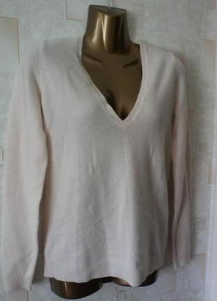 Кашемировый пудровый свитер джемпер, кашемир от zara, разм.44 , нюанс
