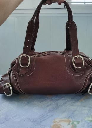 Оригинальная кожаная сумка burberry