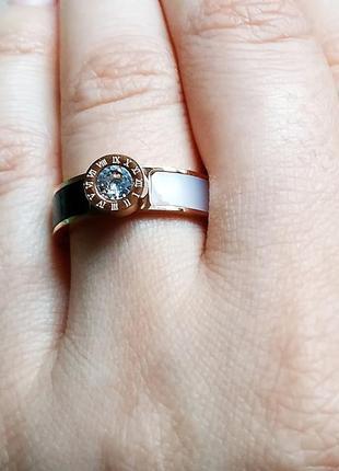 Кольцо инь янь золото нержавеющая сталь